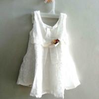 A0572 Gaun Pesta Anak Warna Putih
