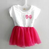 A1027 Gaun Anak Cantik Warna Pink