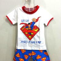 AB001 Baju Anak Superman Putih 1-5 Tahun