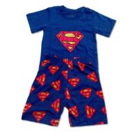AB002 Baju Anak Superman Biru 1-5 Tahun