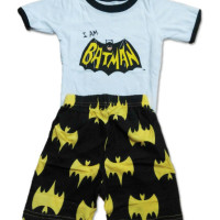 AB004 Baju Anak Batman Putih 1-6 Tahun