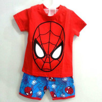 AB008 Baju Set Anak Spiderman
