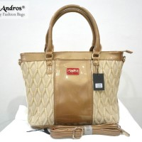 Tas Branded ANDROS - AB0268 IDR. 255.000 BAHAN PU SIZE L35XH28XW15CM WEIGHT 1200GR COLOR BEIGE