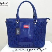 Tas Branded ANDROS - AB0268 IDR. 255.000 BAHAN PU SIZE L35XH28XW15CM WEIGHT 1200GR COLOR BLUE