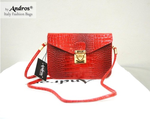 Tas Branded ANDROS - AB9355 IDR 135.000 MATERIAL PU SIZE L18XH13X3CM WEIGHT 350GR COLOR RED