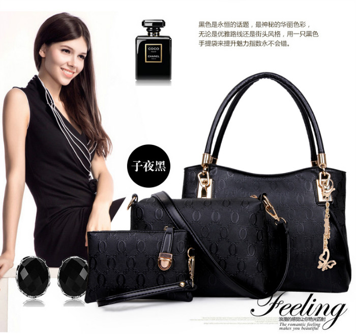 B067 (3IN1) IDR.230.000 MATERIAL PU SIZE BIG L31XH24XW14CM MEDIUM L24X17X7CM SMALL 17X12CM WEIGHT 1000GR COLOR BLACK