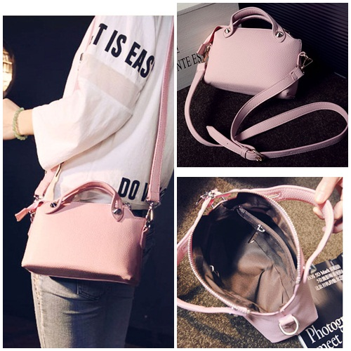 B082 IDR.145.000 TAS FASHION MATERIAL PU SIZE L24XH16XW8CM WEIGHT 450GR COLOR PINK