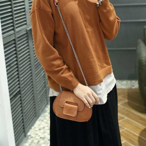 B1002 IDR.139.000 MATERIAL PU SIZE L19XH14XW9CM WEIGHT 400GR COLOR BROWN