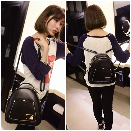 B1122 IDR.198.000 MATERIAL PU SIZE L26-21CMXH26CMXW12CM WEIGHT 700GR COLOR BLACK