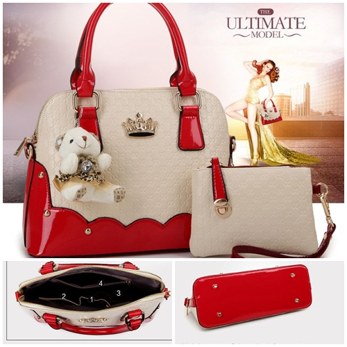 B1134(2in1) IDR.225.000 MATERIAL PU SIZE L31XH22XW14CM WEIGHT 900GR COLOR RED