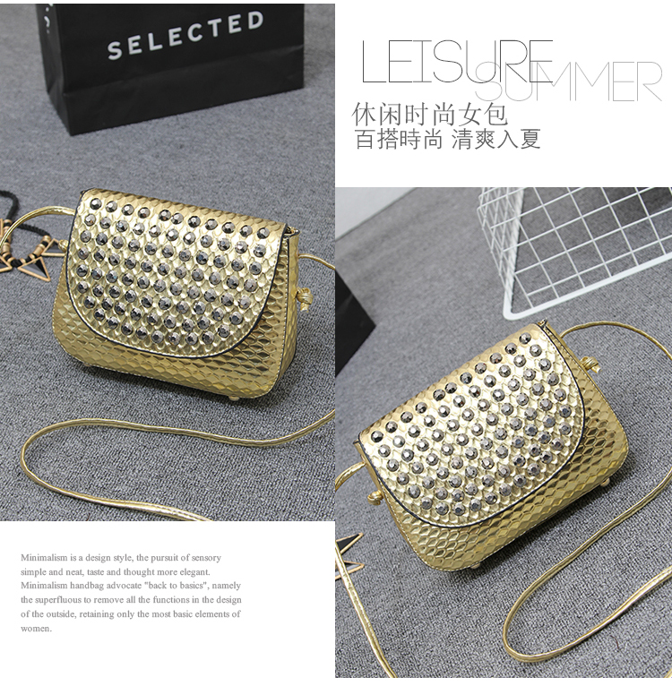 B1144 IDR.162.000 MATERIAL PU SIZE L20XH16XW6CM WEIGHT 550GR COLOR GOLD