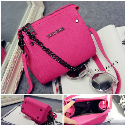 B1198 IDR.145.000 MATERIAL PU SIZE L17XH15XW8CM WEIGHT 400GR COLOR ROSE