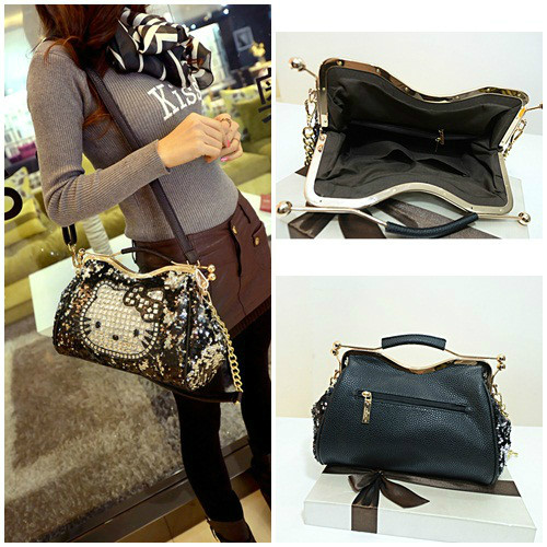 B1205 IDR.235.000 MATERIAL SEQUIN+PU SIZE L30XH20XW12CM WEIGHT 950GR COLOR KITTY