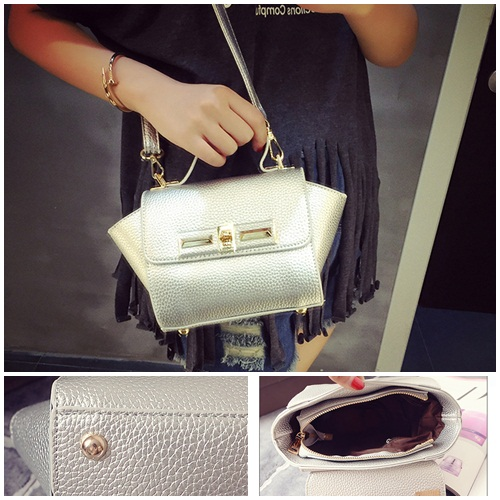 B1229 IDR.150.000 MATERIAL PU SIZE L26XH14XW10CM WEIGHT 600GR COLOR SILVER