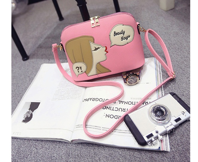 B1254 IDR.143.000 MATERIAL PU SIZE L23XH17XW10CM WEIGHT 500GR COLOR PINK