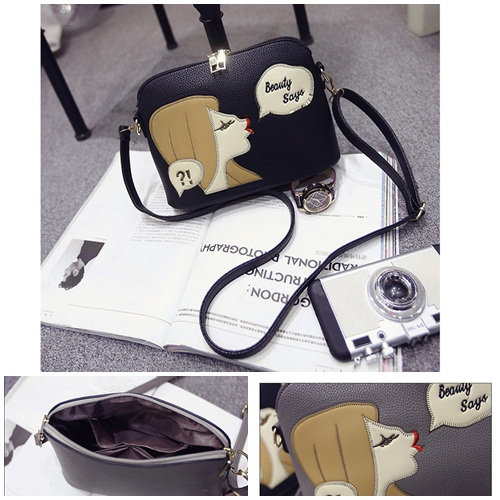 B1254 IDR.143.000 TAS FASHION MATERIAL PU SIZE L23XH17XW10CM WEIGHT 500GR COLOR BLACK