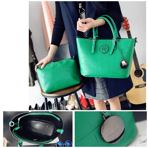B1363-(2in1) IDR.195.000 MATERIAL PU SIZE L31XH23XW15CM WEIGHT 1150GR COLOR GREEN