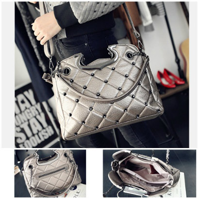 B1377 IDR.189.000 MATERIAL PU SIZE L33XH25XW11CM WEIGHT 850GR COLOR SILVER