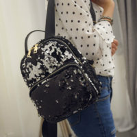 B1544 - Harga sebelum Diskon IDR.160.000 MATERIAL SEQUIN SIZE L22XH27XW12CM WEIGHT 600GR COLOR BLACK
