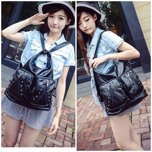B1582 IDR.193.000 MATERIAL PU SIZE L34XH34X12CM WEIGHT 750GR COLOR BLACK