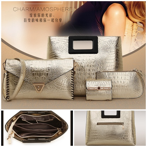 B1620(4in1) IDR..245.000 MATERIAL PU SIZE L35XH27XW9CM WEIGHT 1300GR COLOR GOLD