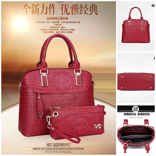 B1643-(2in1) IDR.250.000 MATERIAL PU SIZE L34XH27XW15CM WEIGHT 1200GR COLOR RED
