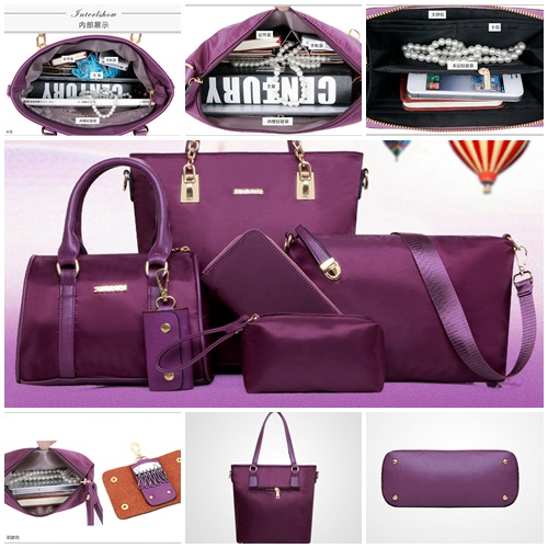 B1658(6in1) MATERIAL NYLON IDR.258.000 SIZE L29XH28,L25XH21 WEIGHT 1400GR COLOR PURPLE