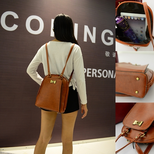 B168 IDR.186.000 MATERIAL PU SIZE L24XH29XW10CM WEIGHT 700GR COLOR LIGHTBROWN