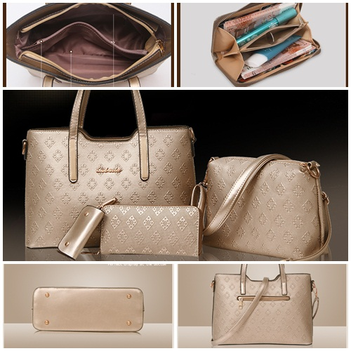 B1683-(4in1) IDR.205.000 MATERIAL PU SIZE L33XH23XW13CM WEIGHT 1300GR COLOR GOLD