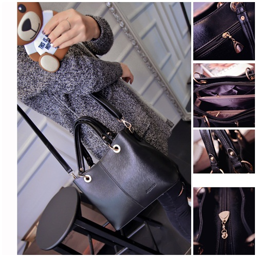B1691 IDR.184.000 MATERIAL PU SIZE L25 30XH21XW14CM WEIGHT 750GR COLOR BLACK