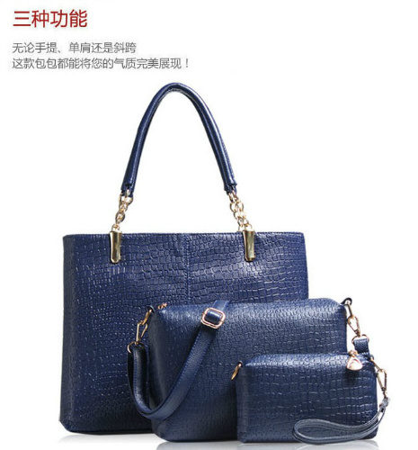 B170 (3in1) - Harga Katalog / Harga sebelum Diskon IDR.190.000 MATERIAL PU SIZE BIG L36XH28XW12CM MEDIUM L26XH18 SMALL L17XH11CM WEIGHT 1300GR COLOR BLUE