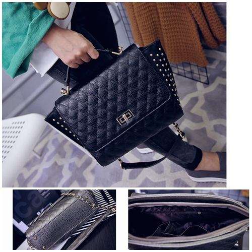 B1754 IDR.186.000 MATERIAL PU SIZE L26XH23XW12CM WEIGHT 800GR COLOR BLACK