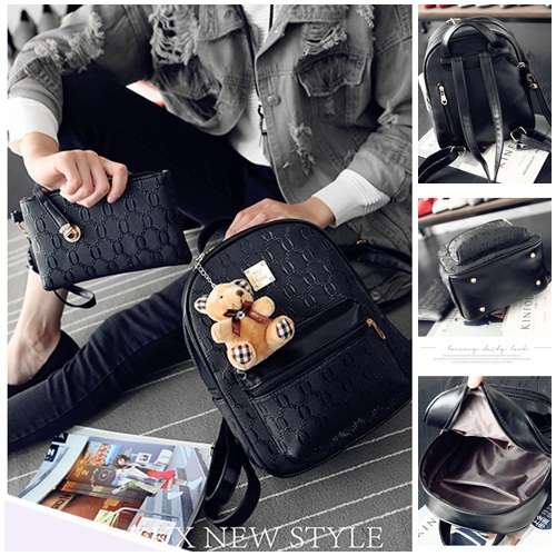 B1767-(2in1) IDR.186.000 MATERIAL PU SIZE L24XH31XW12CM WEIGHT 800GR COLOR BLACK