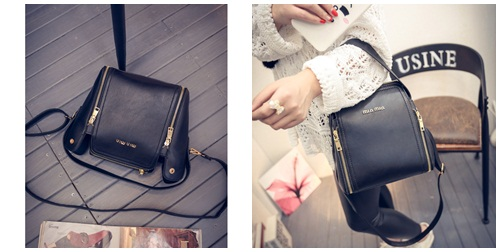 B1775 IDR.198.000 MATERIAL PU SIZE L21XH22XW13CM WEIGHT 750GR COLOR BLACK