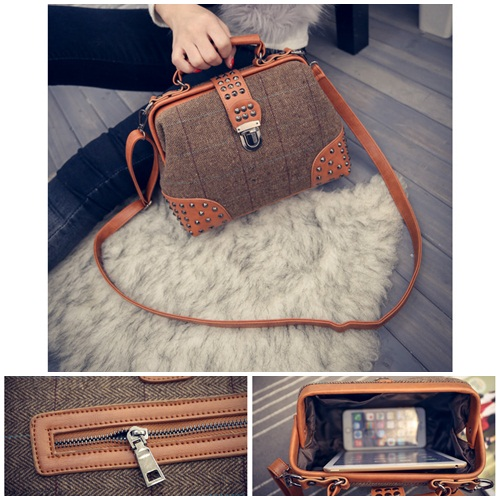 B1815 IDR.190.000 MATERIAL CANVAS SIZE L26XH19XW12CM WEIGHT 700GR COLOR BROWN