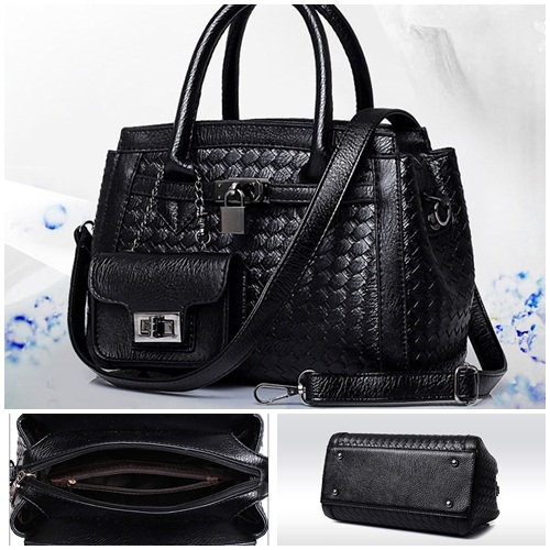 B1852-(2in1) IDR.223.000 MATERIAL PU SIZE L28XH20XW15CM WEIGHT 1100GR COLOR BLACK