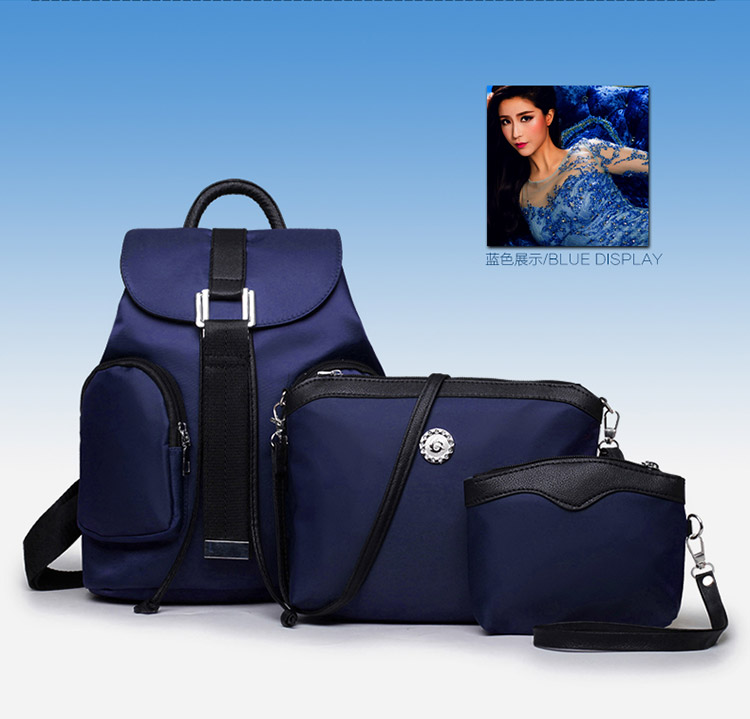 B1861-(3in1) IDR.180.000 MATERIAL CANVAS SIZE L28XH31XW17CM WEIGHT 800GR COLOR BLUE
