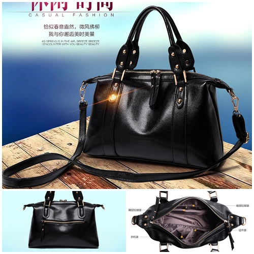 B1921 IDR.180.000 MATERIAL PU SIZE L34XH23XW11CM WEIGHT 800GR COLOR BLACK
