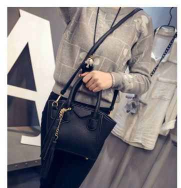 B1952-(2in1) IDR.177.000 MATERIAL PU SIZE L17XH14XW5CM WEIGHT 700GR COLOR BLACK