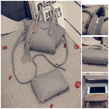 B1952-(2in1) IDR.177.000 MATERIAL PU SIZE L17XH14XW5CM WEIGHT 700GR COLOR GRAY