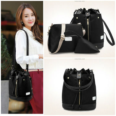 B1960-(3in1) IDR.195.000 MATERIAL NYLON SIZE L27XH34XW16CM WEIGHT 800GR COLOR BLACK