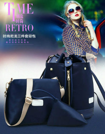 B1960-(3in1) IDR.195.000 MATERIAL NYLON SIZE L27XH34XW16CM WEIGHT 800GR COLOR BLUE