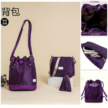 B1960-(3in1) IDR.195.000 MATERIAL NYLON SIZE L27XH34XW16CM WEIGHT 800GR COLOR PURPLE
