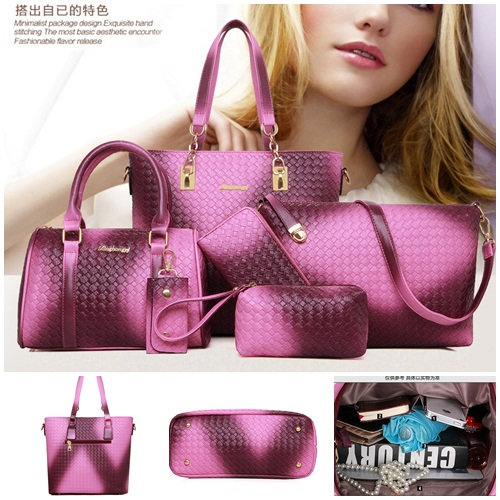 B1964-(6in1) IDR.225.000 MATERIAL PU SIZE L29XH28XW13CM WEIGHT 1300GR COLOR PURPLE