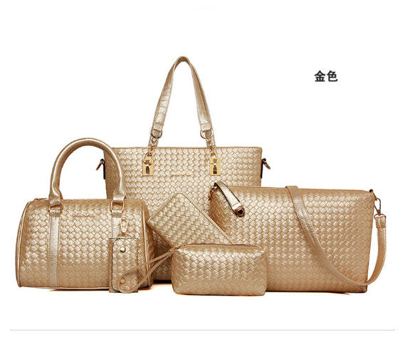 B1964-(6in1) IDR.240.000 MATERIAL PU SIZE L29XH3=28XW13CM WEIGHT 1300GR COLOR GOLD