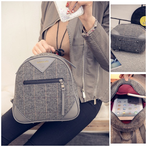 B1968 IDR.154.000 MATERIAL CANVAS SIZE L25XH25XW11CM WEIGHT 600GR COLOR GRAY