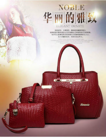B1974-(3in1) IDR.250.000 MATERIAL PU SIZE L32XH25XW14CM WEIGHT 1300GR COLOR RED