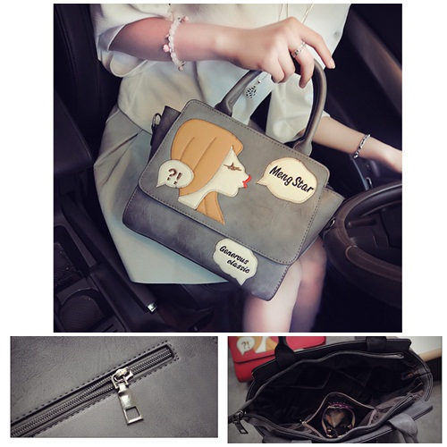 B2002 IDR.182.000 MATERIAL PU SIZE L26XH23XW13CM WEIGHT 750GR COLOR GRAY