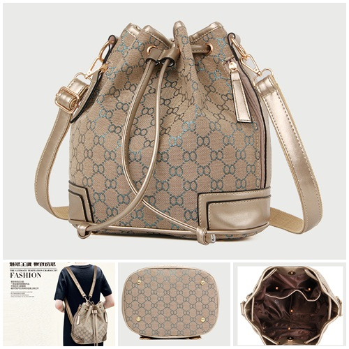 B2003 IDR.180.000 TAS FASHION MATERIAL PU+CANVAS SIZE L275H28XW17CM WEIGHT 900GR COLOR GREEN
