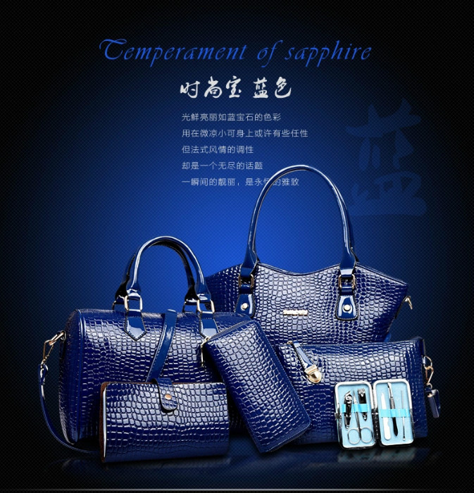 B2022(6IN1,WITH MANICURE KIT) IDR.295.000 MATERIAL PU SIZE BIG L34XH28 MEDIUM L28XH21CM WEIGHT 1700GR COLOR BLUE